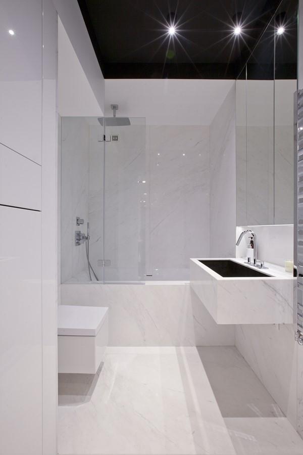 Mała łazienka w minimalistycznym wydaniu KM rubaszkiewicz