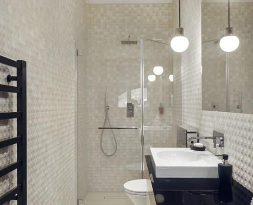 Mała łazienka z prysznicem Sikora Wnętrza