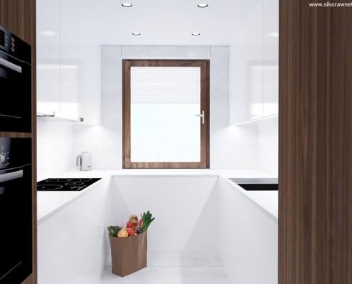 Mała kuchnia w bieli Sikora Wnętrza