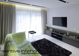 Mały pokój telewizyjny Inventive Interiors