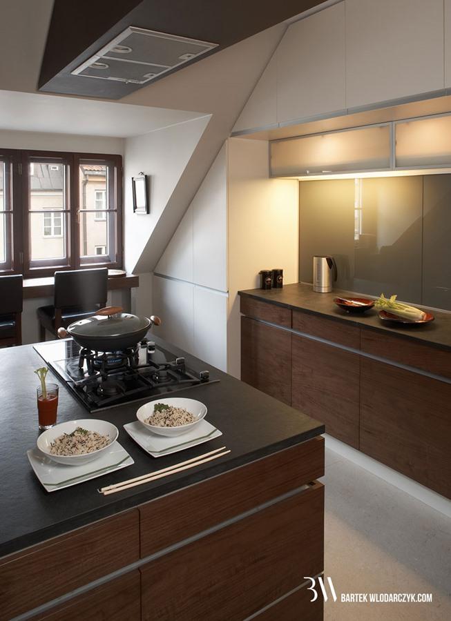 Pomysł na małą kuchnię  będzie wygodnie i przytulnie  Architektura, wnętrza   -> Bardzo Mala Kuchnia Na Poddaszu