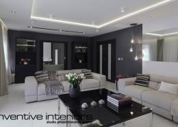 Pomysł na przestronny pokój dzienny Inventive Interiors