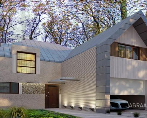 Projekt domu z garażem JABRAARCHITECTS