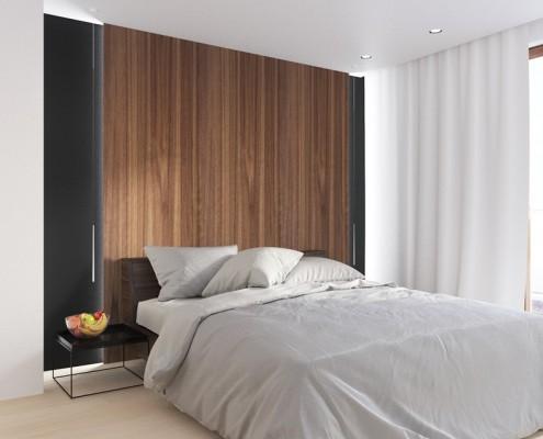 Projekt nowoczesnej sypialni Sikora Wnętrza