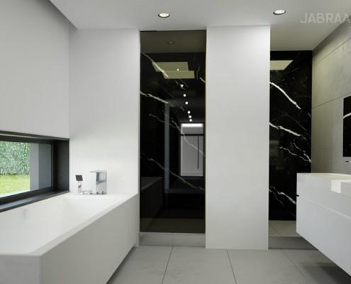 Przestronna łazienka w stylu Bauhaus JABRAARCHITECTS