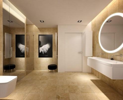 Stylowa łazienka styl minimalistyczny nastrojowa łazienka