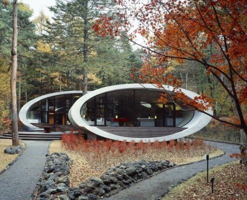 dom w samym środku lasu. Japonia