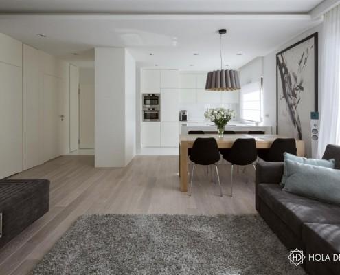 Aranżacja małego mieszkania w nowoczesnym stylu Hola Design