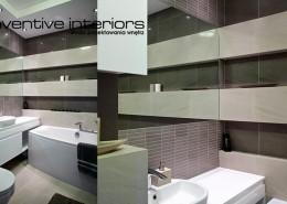Aranżacja małej łazienki z wanną Inventive Interiors