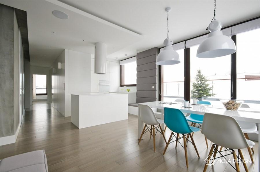 Beton architektoniczny w nowoczesnym wnętrzu - biuro projektowe