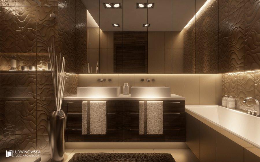Piękna łazienka w brązie