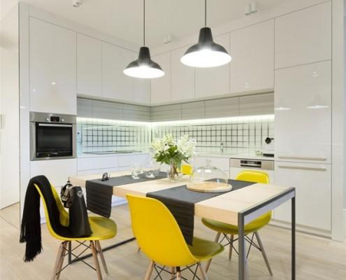 Jadalnia z aneksem kuchennym Hola Design