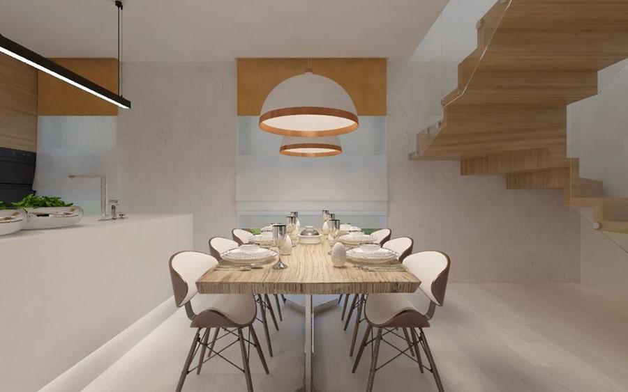 Kuchnia z wyspą i jadalnią  Architektura, wnętrza, technologia, design  Hom