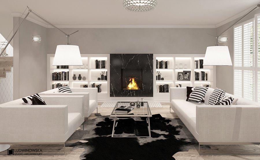 Nowoczesny salon w bieli jak urządzić