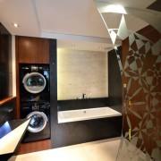 Obudowana pralka w łazience pomysły i inspiracje