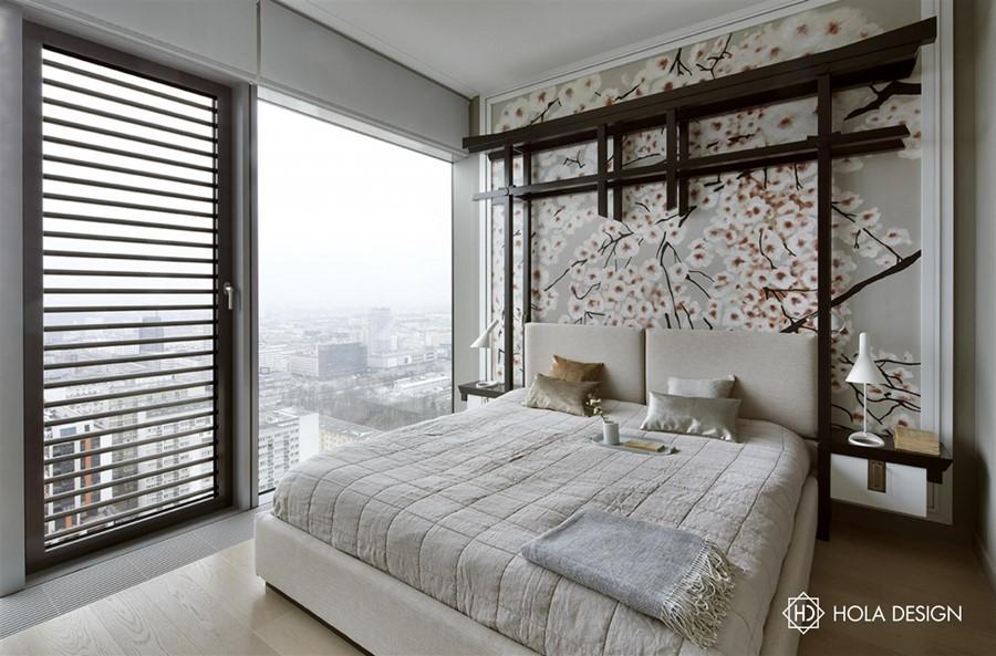 Orientalne motywy w nowoczesnej sypialni Hola Design