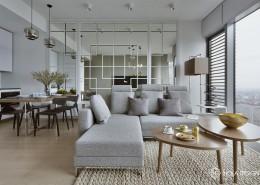 Pokój dzienny z aneksem kuchennym Hola Design