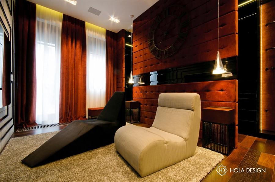 Pokój multimedialny w stylu art deco Hola Design
