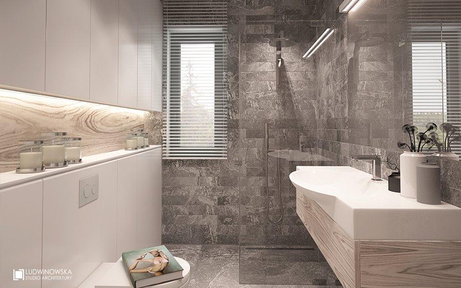 Piękna łazienka w popielu