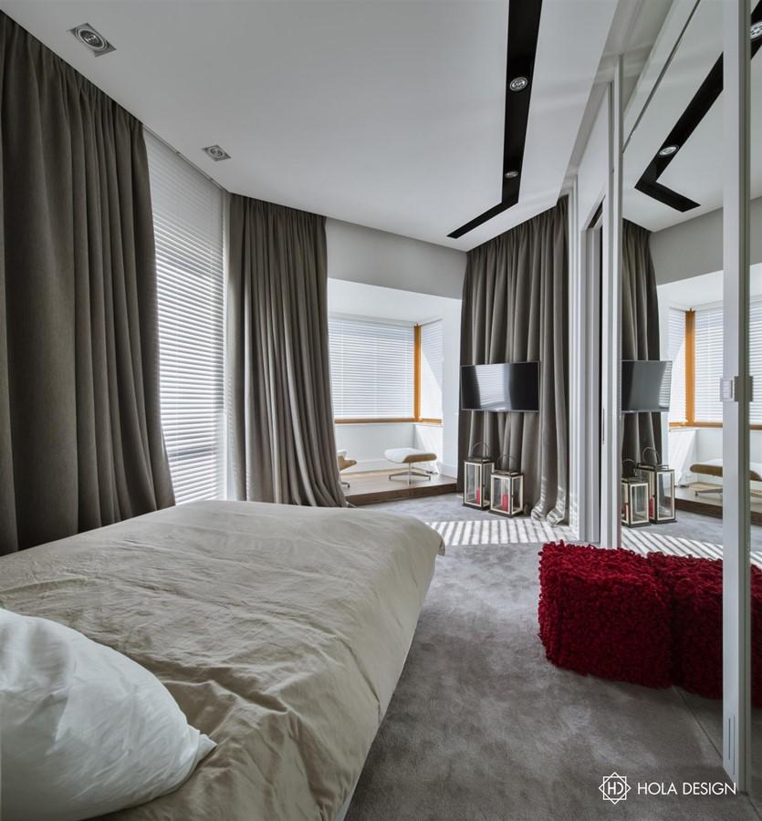 Sypialnia z garderobą i kącikiem wypoczynkowym - Architektura, wnętrza, technologia, design ...