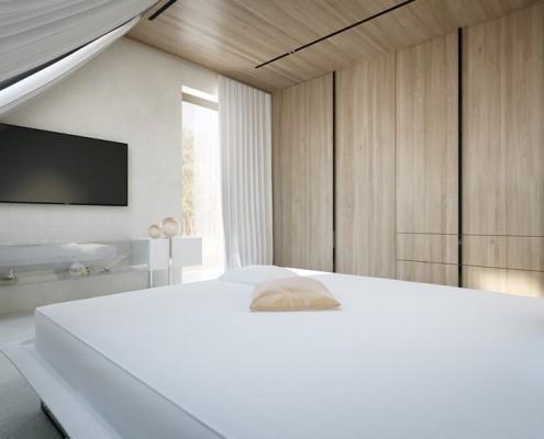 Zrównoważona kolorystyka w sypialni Concept