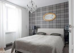 Biało-szara sypialnia w stylu modern classic Casamila