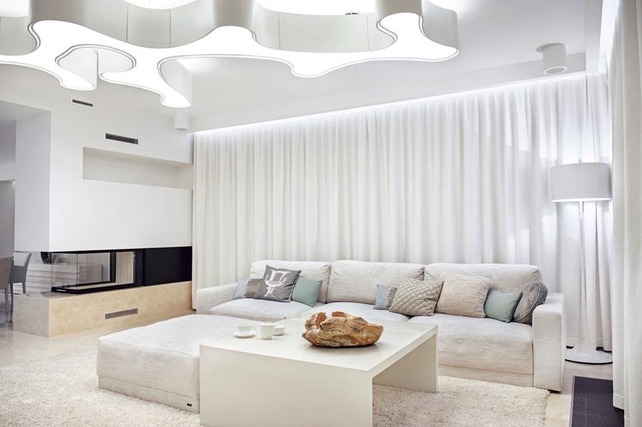Jak oświetlic salon w bieli inspiracje wnętrz