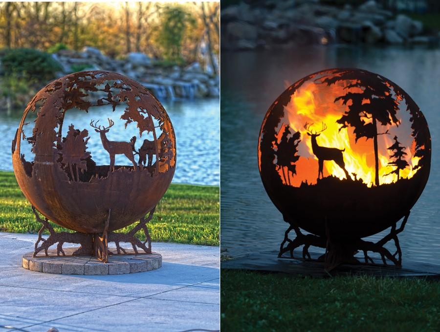 Metalowe palenisko w ogrodzie the Fire Pit Gallery