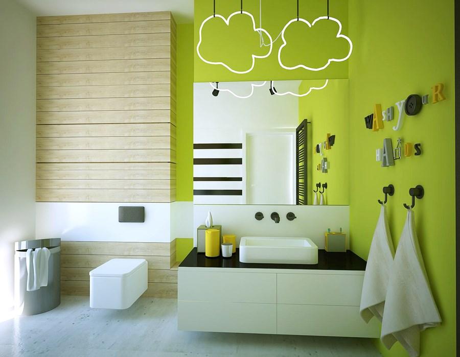 Nowoczesna łazienka W Soczystych Kolorach Artykuły Homesquare