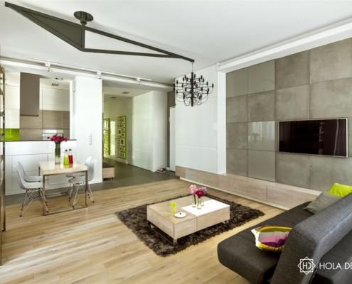 Nowoczesne wnętrze z industrialnym motywem Hola Design