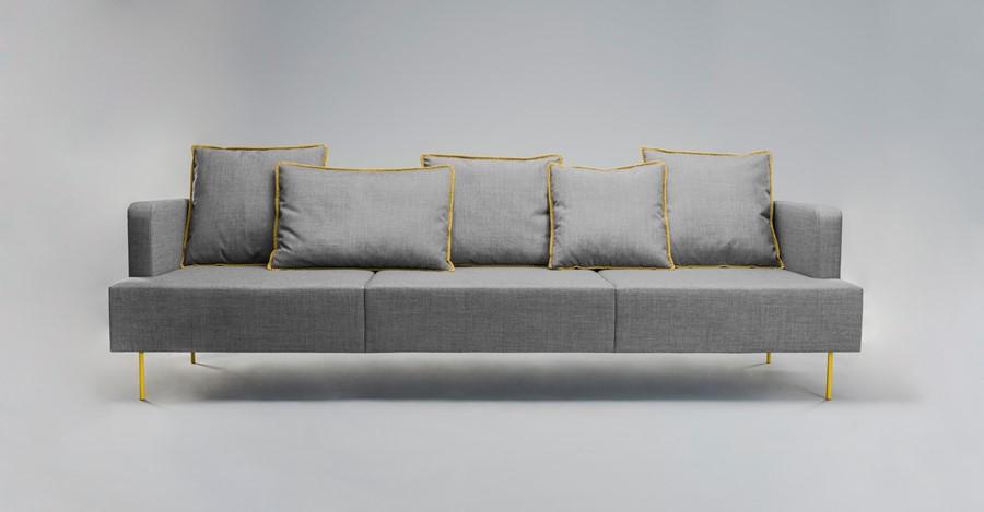 """""""Sofa w salonie"""" - model Levit by T. Rygalik"""