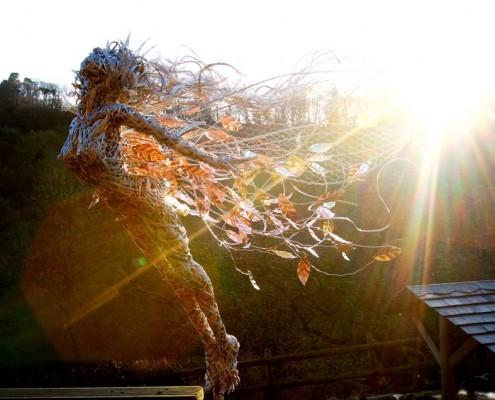 Zjawiskowa rzeźba ogrodowa z metalu Robin Wight