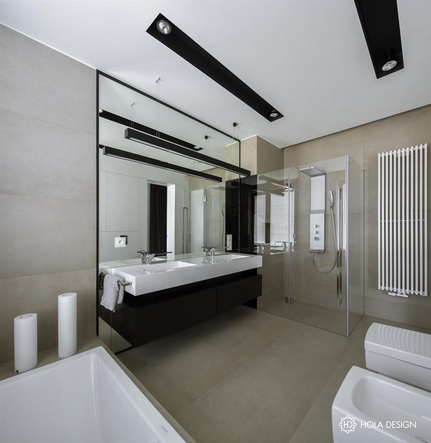 Aranżacja minimalistycznej łazienki Hola Design