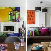 Czym ozdobić ścianę na kolorowo styl eklektyczny