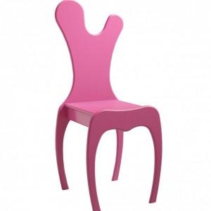 Różowe krzesło dziecięce VOLUTE Mathy by Bols