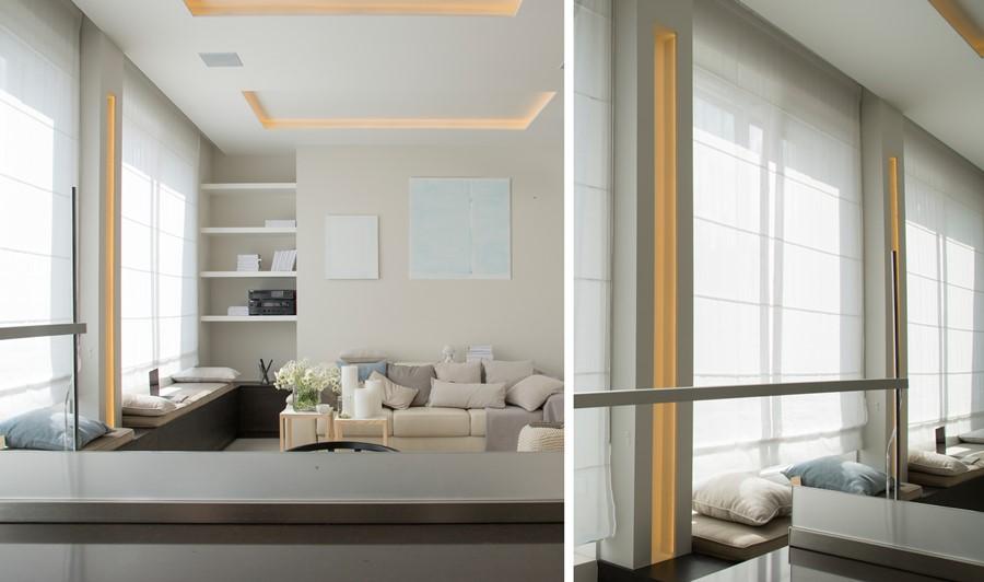 Podwieszany sufit z oświetleniem LED