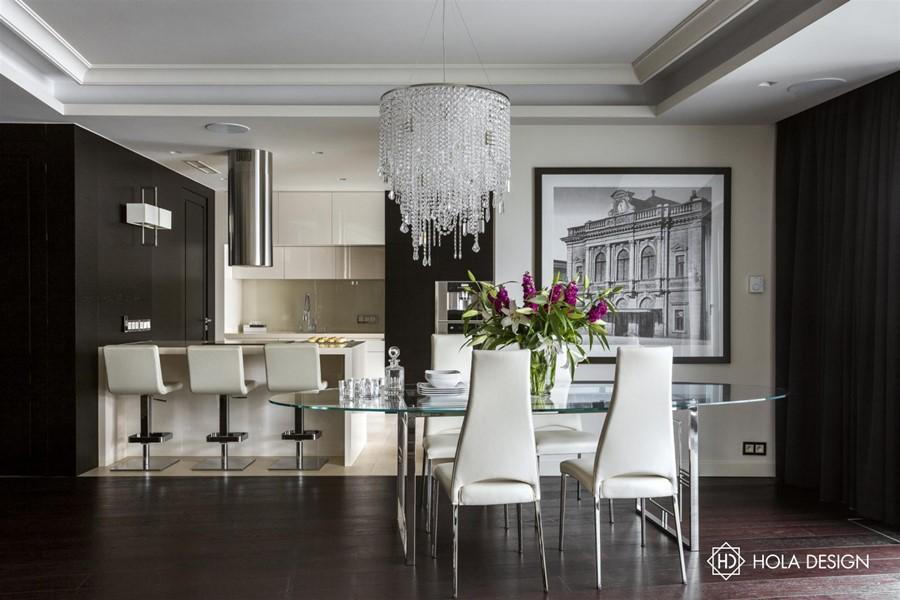 modern art deco w salonie po czonym z jadalni architektura wn trza technologia design. Black Bedroom Furniture Sets. Home Design Ideas