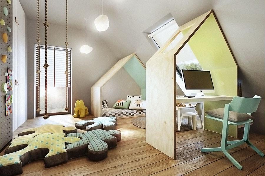 Kreatywny pokój zabaw dla dziecka - Architektura, wnętrza, technologia, design - HomeSquare