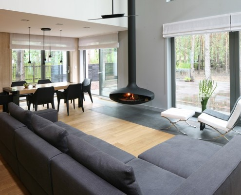 Pokój dzienny i jadalnią w otwartej przestrzeni Living Box