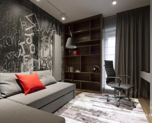 Pokój młodzieżowy w ziemistych kolorach Hola Design