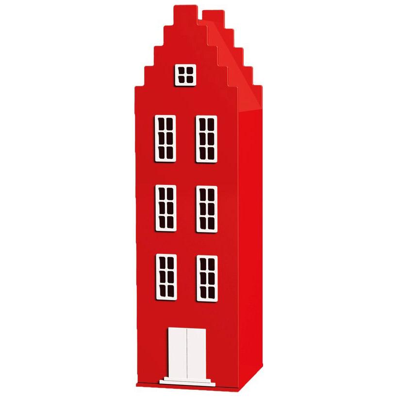 Czerwona szafa dziecięca Stairgable Firemanred 180 50 50 cm Kast van een Huis