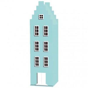 Błękitna szafa dziecięca Stairgable Sparkling 180 50 50 cm