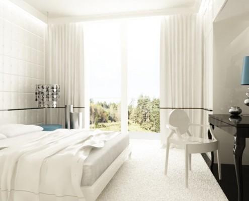 Stylowa sypialnia z toaletką Living Box