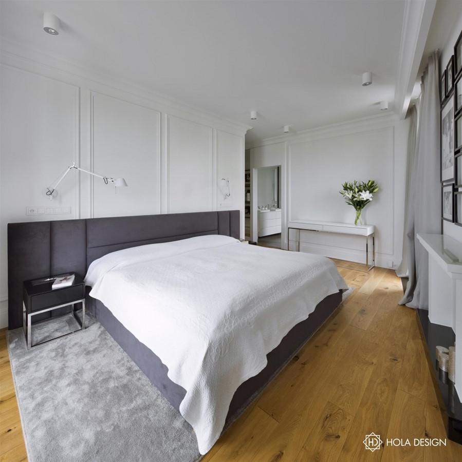 wystr243j sypialni w stylu modern classic inspiracja