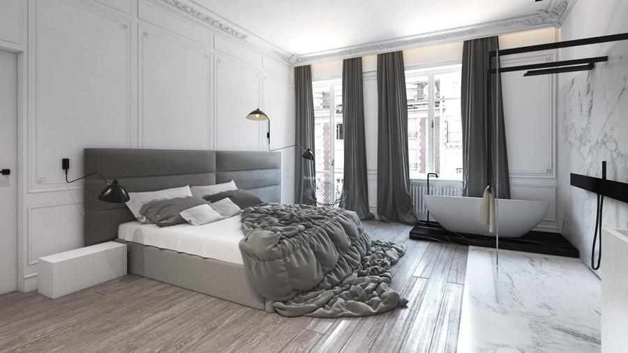 Duża sypialnia z pokojem kąpielowym Living Box