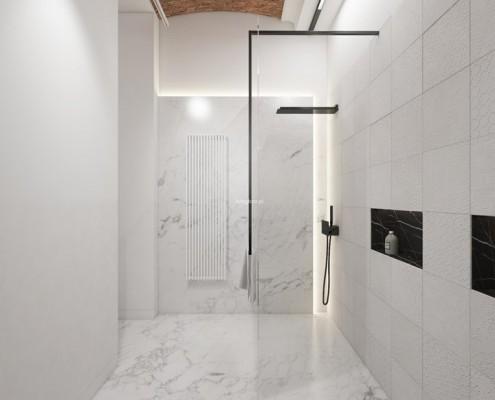 Minimalistyczna łazienka w jasnych barwach Living Box