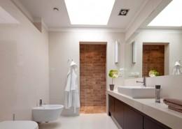Nowoczesna łazienka w naturalnych barwach Studio Agnieszki Zydorowicz