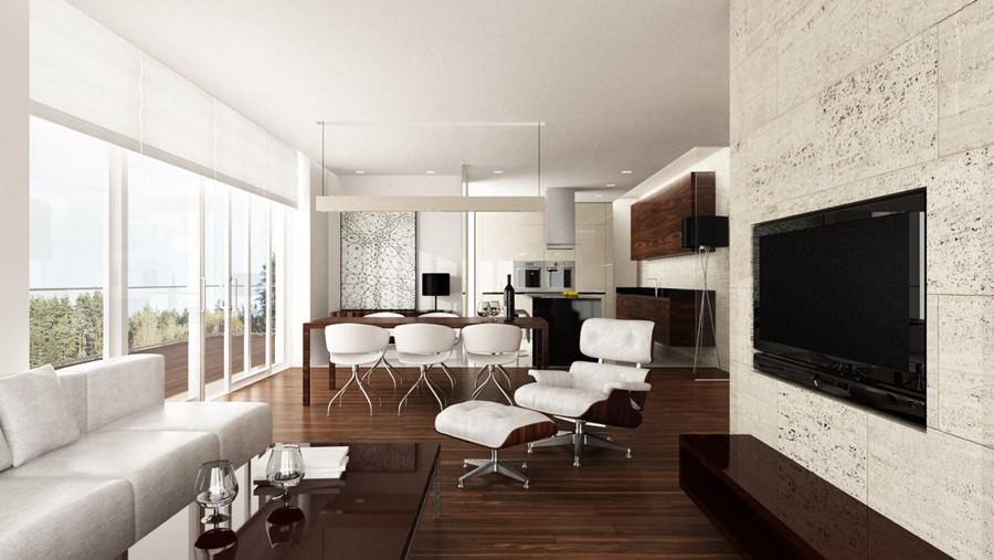 Inspirujące aranżacje salonów w różnych stylach - Architektura, wnętrza, technologia, design ...