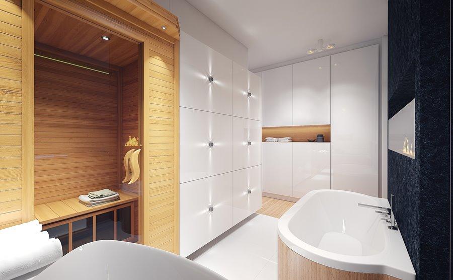 Projekt Białej łazienki Z Sauną Inspiracja Homesquare