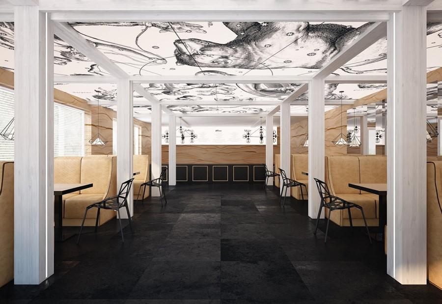 Stylowa restauracja w nowoczesnym wydaniu Concpet